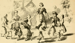 Children dancing in a circle