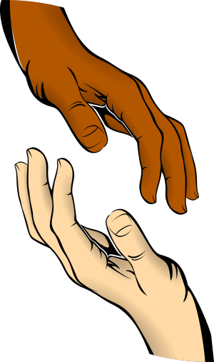 Image of two hands